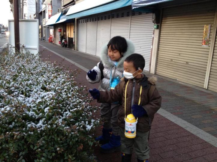 salju pertama 2012
